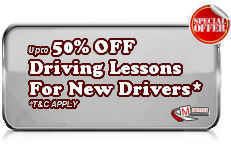 50% Discount for New Learner Driving Lessons